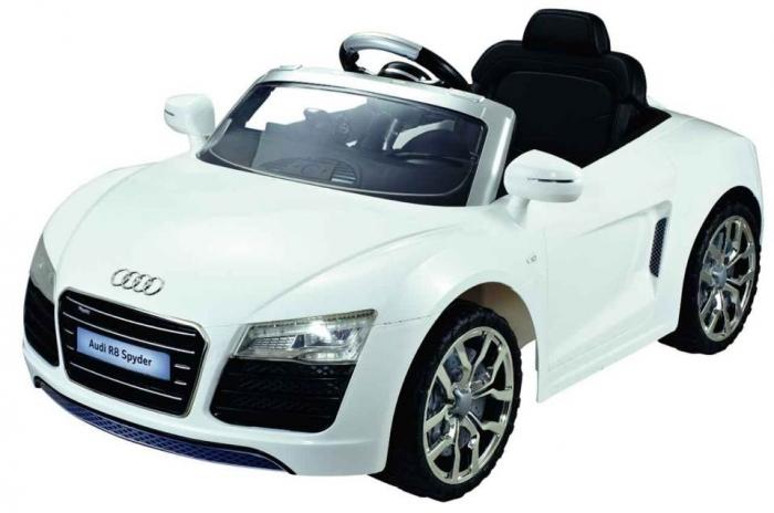 Xe hơi điện cho bé tự lái Audi R8 Spyder_Màu Trắng sang trọng