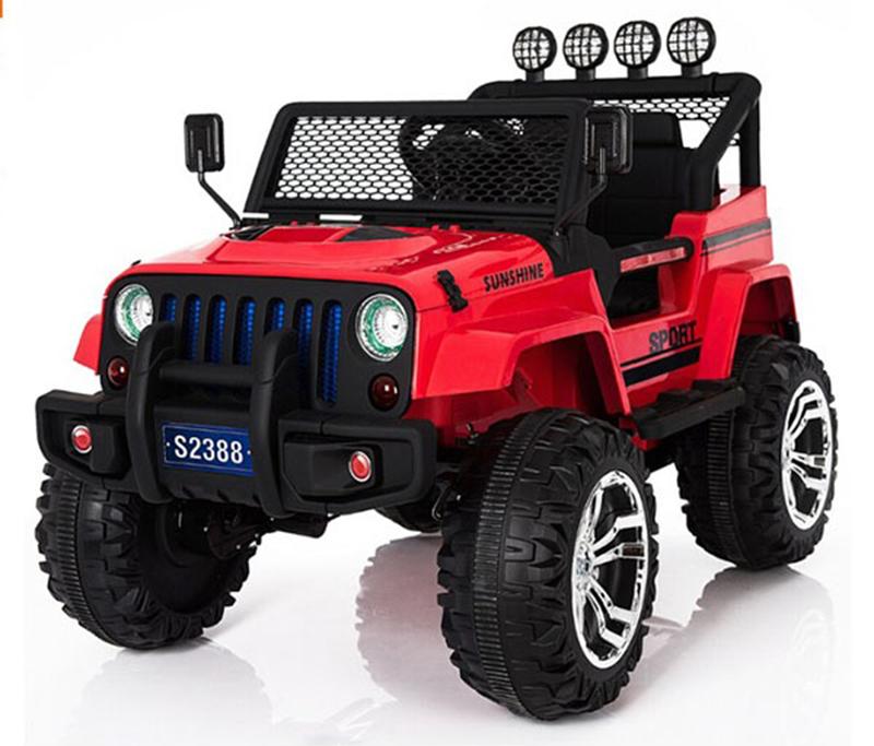Xe điện trẻ em 2 chỗ ngồi Jeep Địa Hình S-2388 Cụm đèn trước