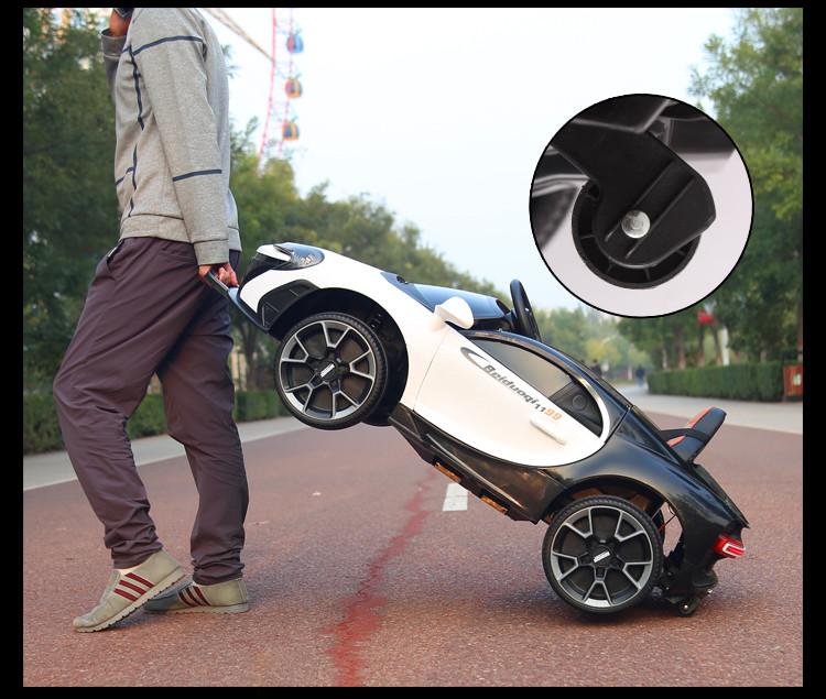 Xe điện trẻ em McLaren BDQ-1199_Thiết kế tay kéo dạng Vali