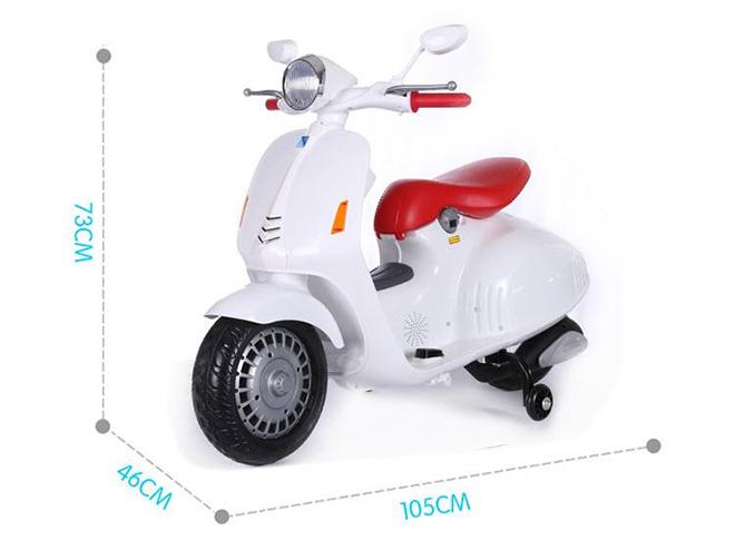 Xe máy điện trẻ em Vespa LX-125 kích thước xe