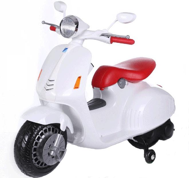 Xe máy điện trẻ em Vespa LX-125 màu trắng