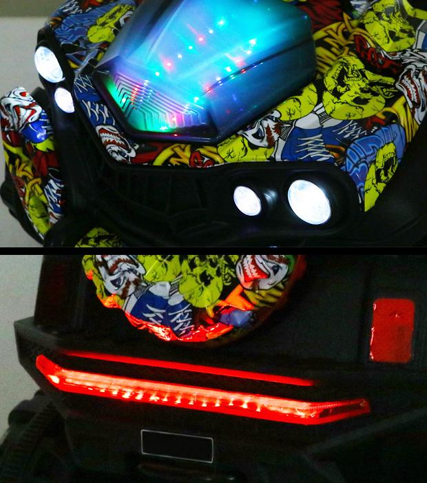 Xe ô tô điện trẻ em Jeep A6500 đèn LED