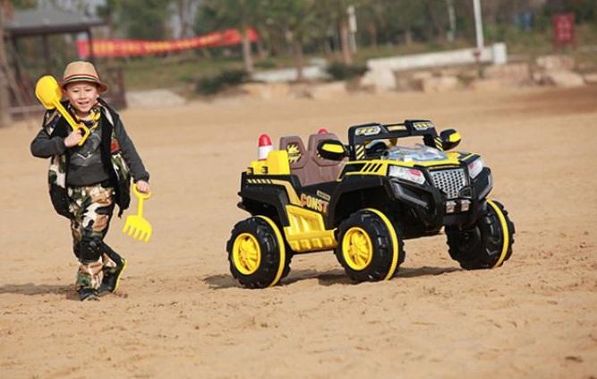 Xe ô tô điện trẻ em 2 chỗ ngồi KKL-5288 màu Vàng
