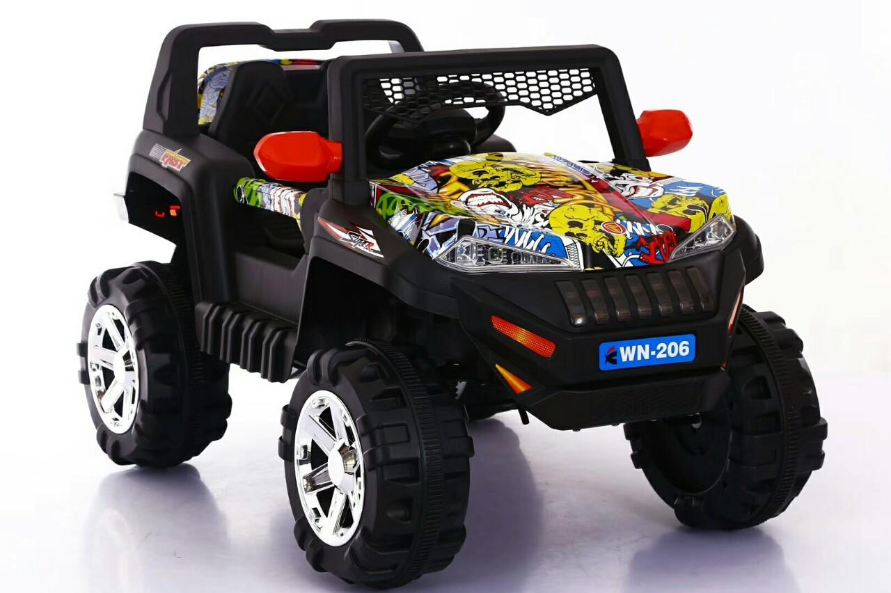 Xe điện trẻ em WN-206 màu họa tiết bắt mắt