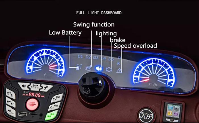 Cụm đèn LED hiển thị trên bảng điều khiển