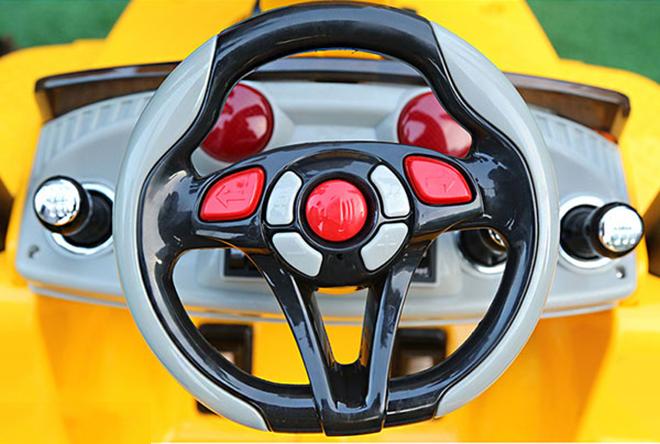 Xe cẩu điện cho bé YH-99176 với hệ thống nút điều khiển trên volang