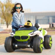 Xe ô tô điện trẻ em 2 chỗ ngồi ND-2019 bánh cao su non + ghế nệm da