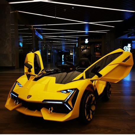 Xe ô tô điện trẻ em Lamborghini 2019-3 ghế nệm da
