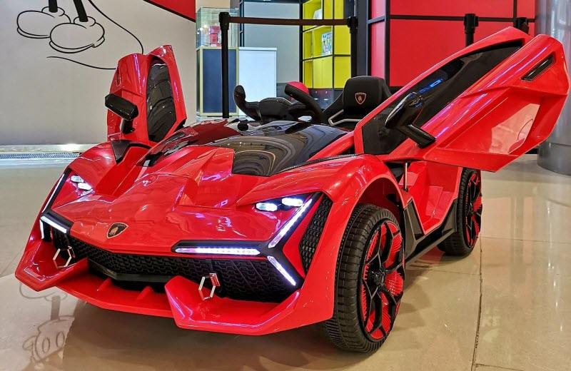Xe điện trẻ em Lamborghini 2019-3 cụm đèn LED trước siêu sáng