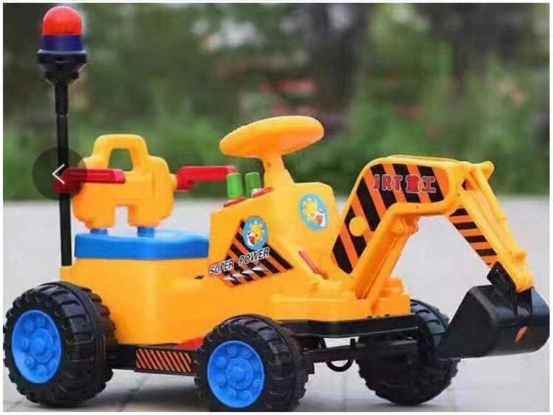 Xe máy xúc điện trẻ em JRT-318 màu Vàng