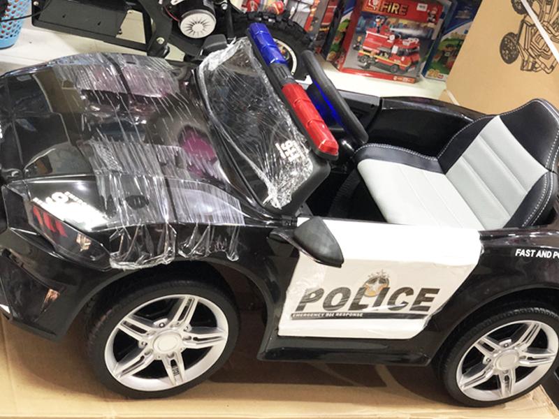 xe ô tô cảnh sát cho bé BBH-0007 đèn chớp giống như xe thật