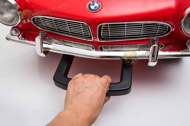 Tay kéo dạng vali giúp kéo xe dễ dàng khi xe hết ắc quy