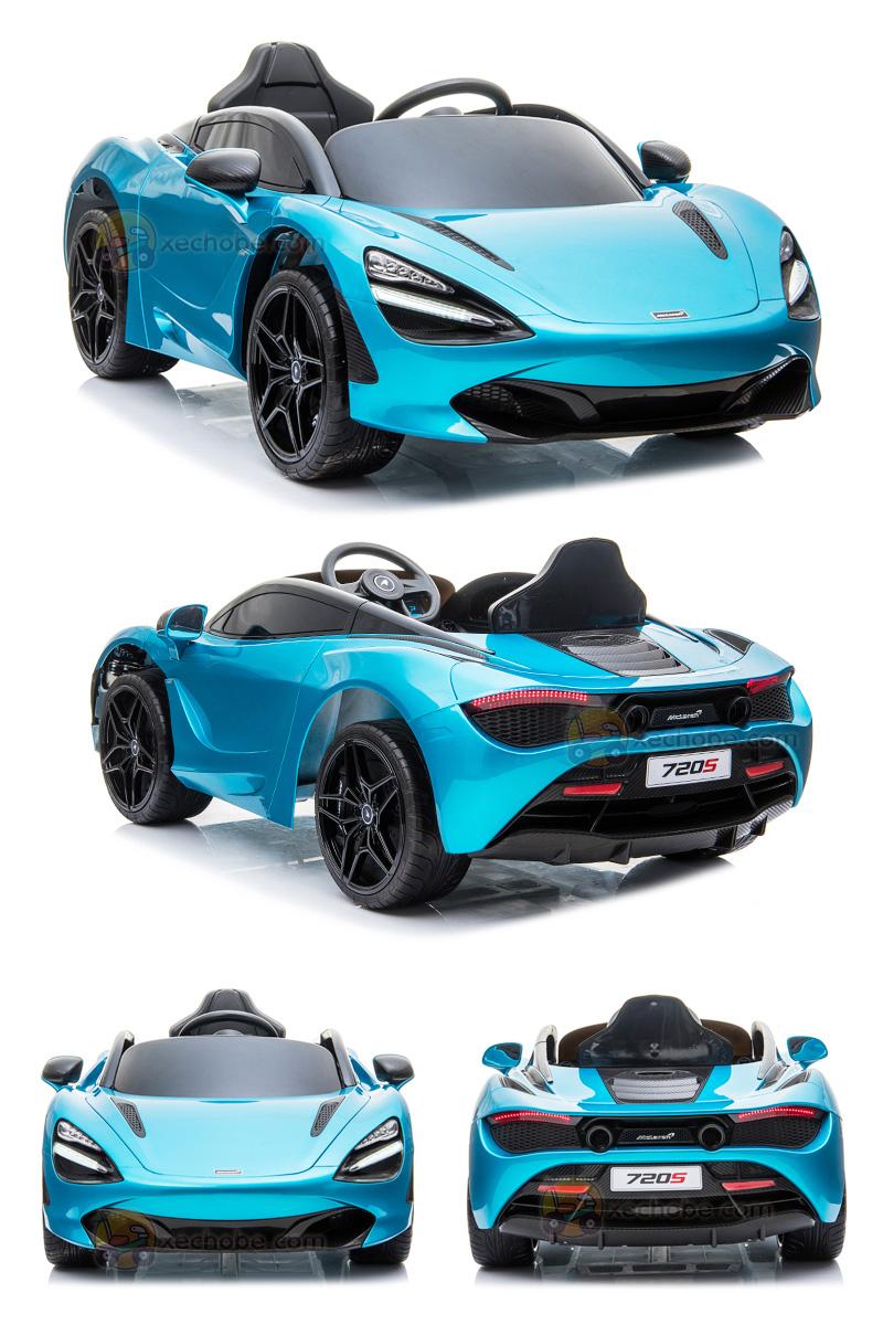 xe ô tô điện cho bé 720S màu Xanh