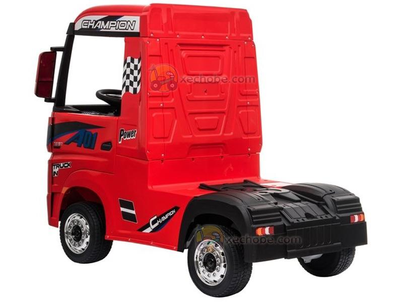 Xe ô tô điện trẻ em dáng Container HL-358 với bánh cao su non