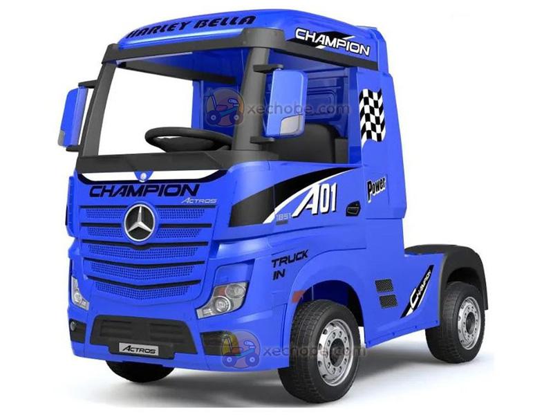 Xe điện trẻ em dáng Container HL-358 màu Xanh