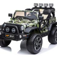 Xe ô tô điện trẻ em 2 chỗ ngồi Jeep HP-012 bánh cao su, ghế nệm da