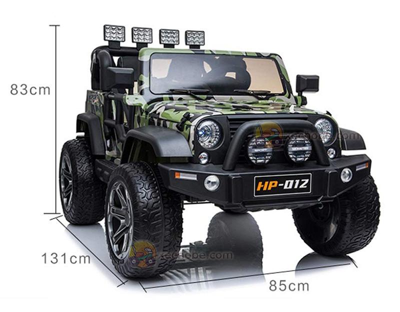 ô tô trẻ rm Jeep HP-012 với kích thước lớn