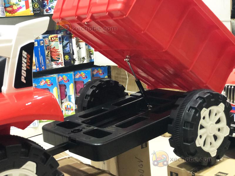 Xe máy kéo điện trẻ em HSD-6601 với hệ thống trợ lực phía dưới thùng xe để ben thùng