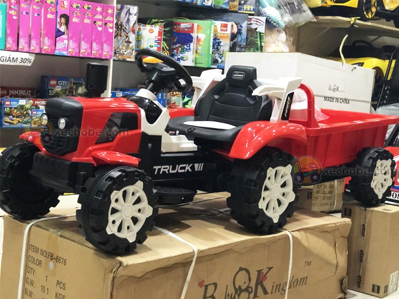 Xe công nông điện trẻ em HSD-6601 với ghế nệm da êm cho bé