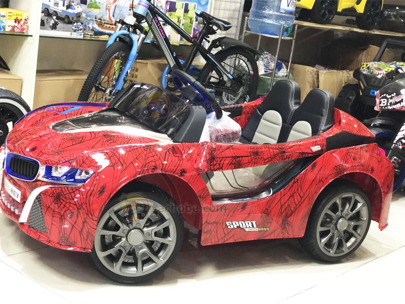 Xe điện trẻ em BMW i8 với bánh cao su non