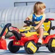 Xe cần cẩu điện cho bé JRT118 gàu múc bằng điện