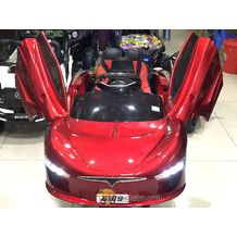 Xe ô tô điện trẻ em Bánh cao su Ghế da 6189